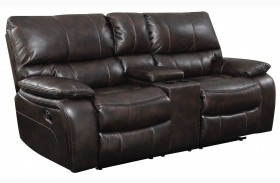 Willemse Dark Brown Reclining Loveseat