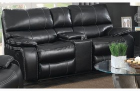 Willemse Black Reclining Loveseat