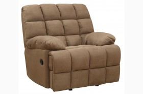 Pickett Mocha Glider Recliner
