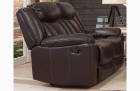 Bevington Chocolate Reclining Loveseat