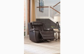 Bevington Chocolate Glider Recliner