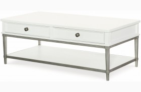 Upstate Bianco 2 Drawer Cocktail Table