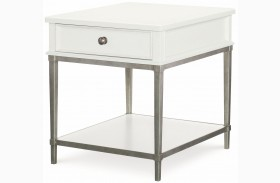 Upstate Bianco 1 Drawer End Table