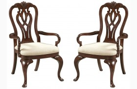 Hadleigh Queen Anne Arm Chair Set of 2