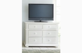 Summer House Oyster White Media Chest