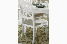 Summer House Oyster White Slat Back Side Chair Set of 2