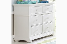 Summer House Oyster White 6 Drawer Dresser