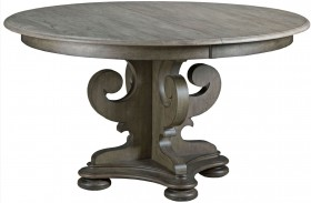 Greyson Grant Round Pedestal Extendable Dining Table