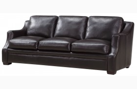 Grandview Espresso Leather Sofa