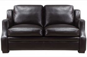 Grandview Espresso Leather Loveseat