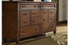 Rocky Mountain Whiskey Brown 7 Drawer Dresser