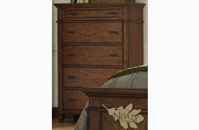 Rocky Mountain Whiskey Brown 5 Drawer Chest