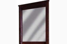 Diego Espresso Pine Mirror