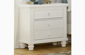 Ellington White 2 Drawer Nightstand