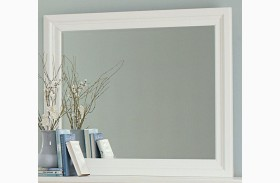 Ellington White Landscape Mirror