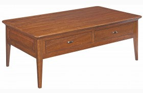 Cherry Park 2 Drawer Rectangular Cocktail Table