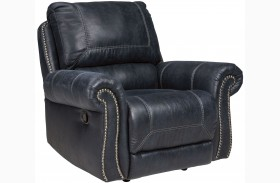 Milhaven Navy Power Rocker Recliner