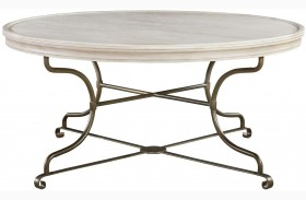 Elan Elm Round Cocktail Table