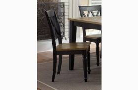 Al Fresco Black Double X Back Side Chair Set of 2