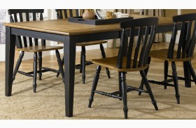 Al Fresco Black Rectangular Leg Table