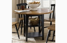 Al Fresco Black Drop Leaf Leg Table