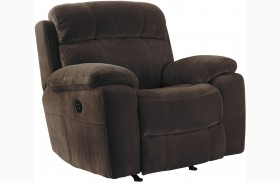 Uhland Chocolate Power Recliner With Adjustable Headrest