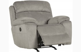 Uhland Granite Power Recliner With Adjustable Headrest
