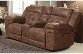 Charleston Vagabond Power Reclining Loveseat With Console