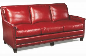 Prescott Supple Red Leather Sofa