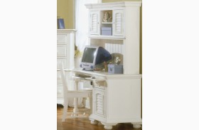 Cottage Traditions White Youth Computer Desk Set