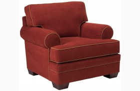 Landon Walnut Microfiber Chair
