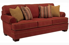 Landon Walnut Microfiber Sofa