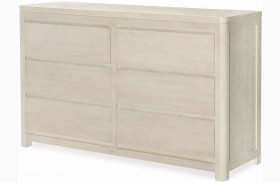 Indio by Wendy Bellissimo White Sand 6 Drawer Dresser