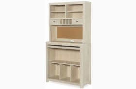 Indio by Wendy Bellissimo White Sand Desk with Hutch