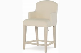 Indio by Wendy Bellissimo White Sand Slipcover Arm Chair