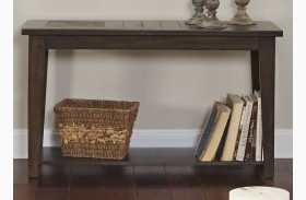Hearthstone Dark Rustic Oak Sofa Table