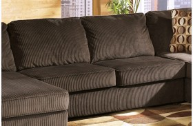 Vista Chocolate Armless Loveseat