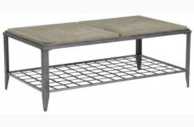 Modern Classics Grid Rectangular Cocktail Table