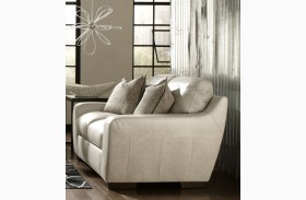 Alpha White Loveseat