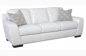 Alpha White Sofa