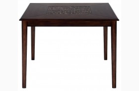 Baroque Brown Mosaic Inlay Counter Height Dining Table