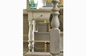 High Country White Chair Side Nightstand