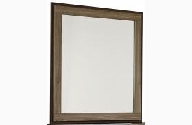 Fremont Dark And Smoky Weathered Oak Panel Mirror