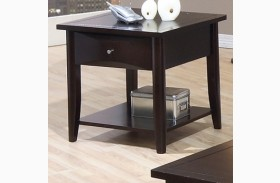 Whitehall Black End Table