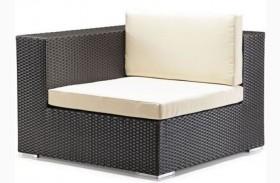 Cartagena Espresso & Beige Corner Chair