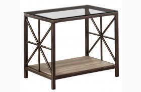 Avondale Metal & Glass End Table