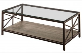 Avondale Metal & Glass Coffee Table