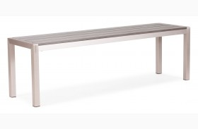Metropolitan Brushed Aluminum Bench