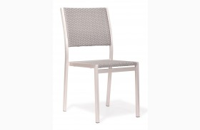 Metropolitan Brushed Aluminum Dining Chair Set of 2