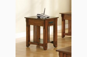 Oak Chairside Table 702006